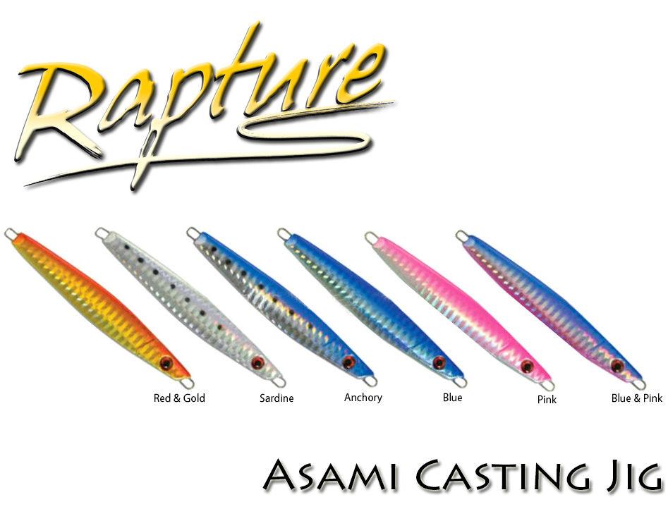 Artificale Rapture Asami Casting Jig Pesca Tonno Palamita Spiola Barracuda  PP