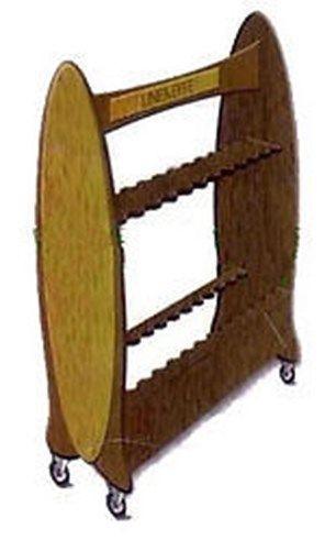 Carrello porta canne pesca 26 posti legno for Porta canne da pesca a muro