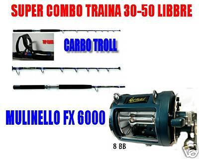 Pesca Alla Traina Canna da Pesca Traina Barca 30