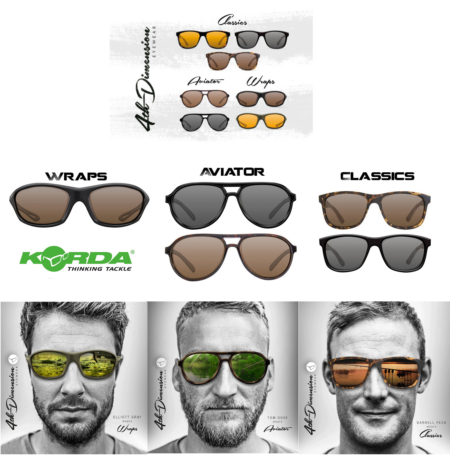 d79fdef8b9a3 Polarized Glasses Fishing Korda Classics Wraps Aviator Top Quality Carp