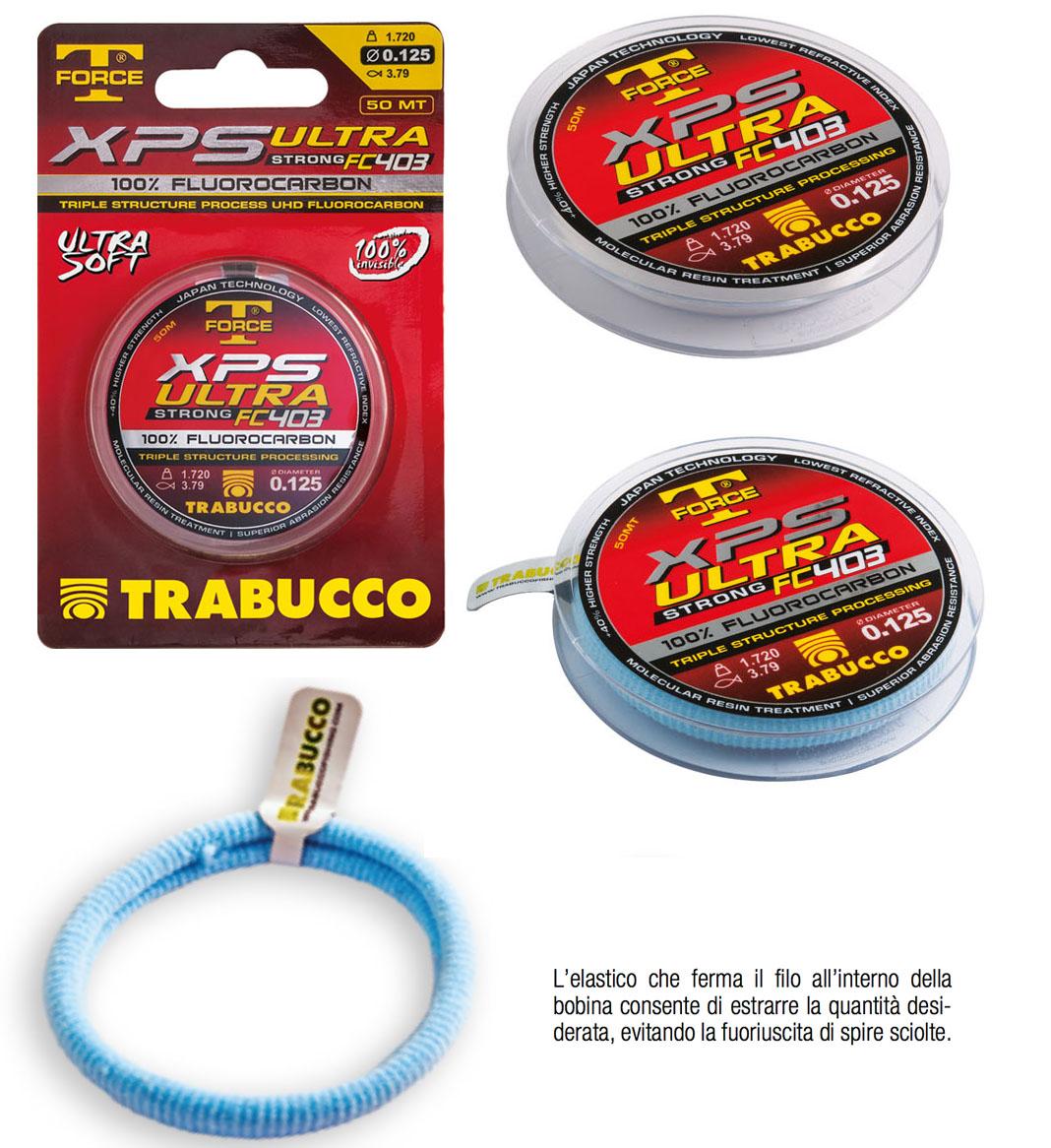 FILO XPS ULTRA FC 403 FLUOROCARBON mm 0,20  PER TERMINALI MT 50 TRABUCCO
