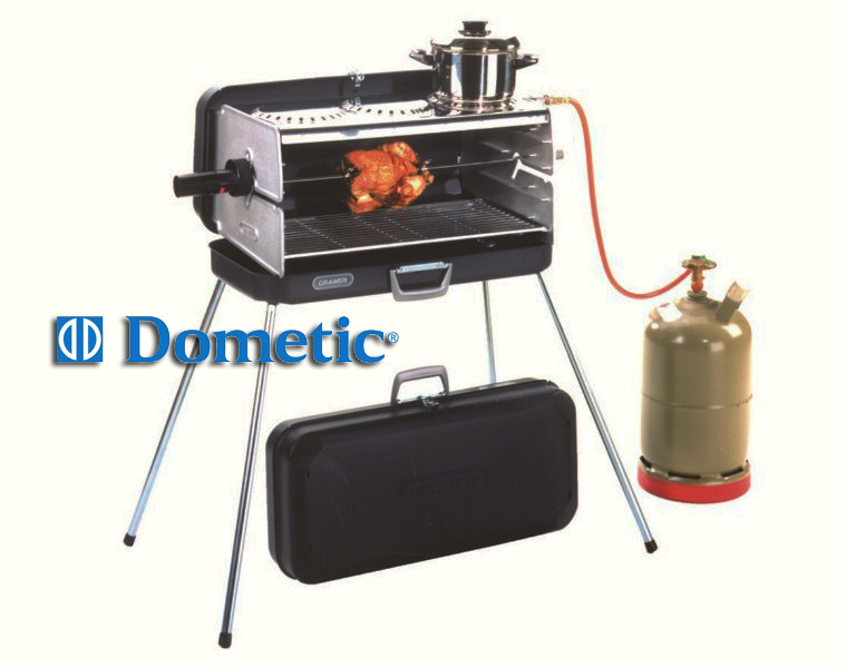 Barbecue portatile a gas 3 fuochi dometic classic campeggio - Barbecue portatile a gas ...