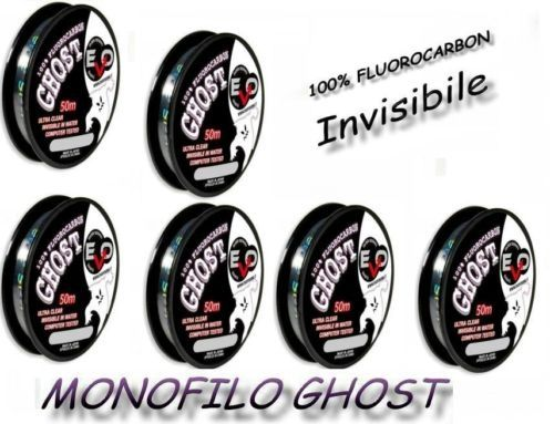 Kit Sei Bobine Monofilo Fluorocarbon Ghost Invisibile
