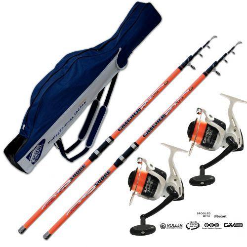 KP3913 - Kit 2 canne Surf Catcher 420 200 gr 2 Mulinelli Evo Fodero