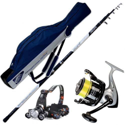 KP2638 - Kit Canna Long Cast 420 Mulinello Trabucco 6500 Fodero Luce