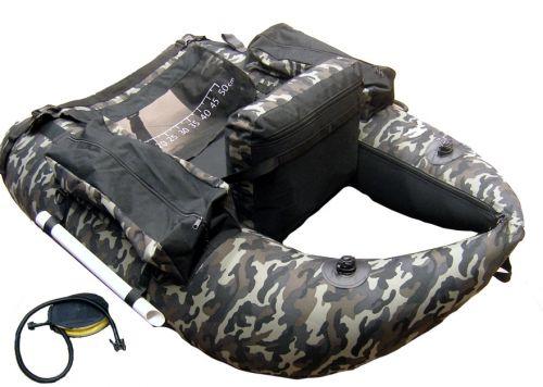 Belly Boat Camouflage Mimetico Pesca Mare Lago 4 Camere Aria