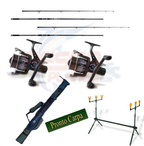 Kit Pronto Carpa Pesca Carp Fishing 2 Canne 2 Mulinelli 1 Rodpod