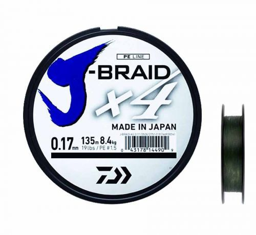 12741007 - Daiwa x4 Braid Green Trecciato 135 m