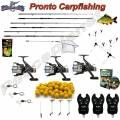 Kit Carpfishing 3 Canne 3 Mulinelli 3 Scimmiette Rod Pod Boilies