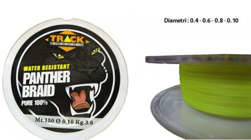 151331203104 - Dyneema Trecciato Panther Braid Yellow Track Line pesca Spinning Bolentino 150
