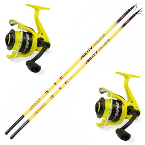 KP4574 - Kit 2 Canna Bulox Ability Bolognese 4 m 2 Mulinello Evo Fishing Supreme CX 3000
