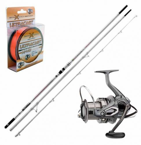 KP3191 - Kit Surfcasting Canna Avocet PB 423 + Mulinello Emcast 6000