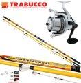 Canna Pesca 3 Sezioni Trabucco Suspiria + Mulinello Alioth 80