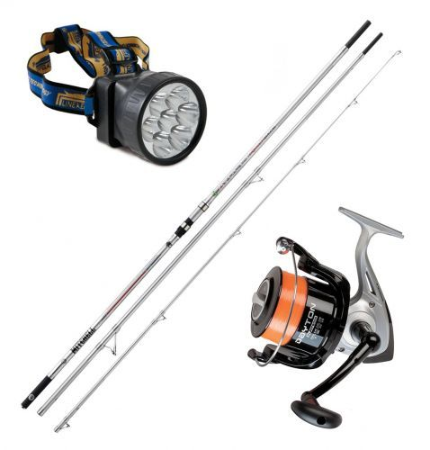 KP2379 - Kit Surf Canna Mitchell Avocet 420 Mulinello Trabucco 8000 Luce frontale