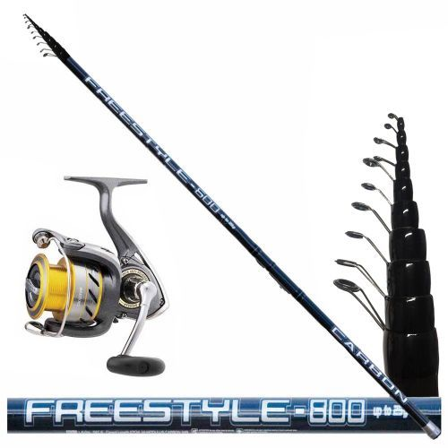 KP3069 - Kit Bolognese Canna Freestyle 8 mt + Mulinello Daiwa