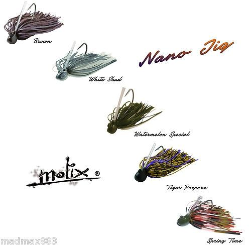 Nano Jig Molix 5 Colori 3.5 - 5.0 Grammi Finess Black Bass