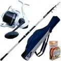 Canna Surf Long Cast Power 420 Mulinello Hummer 8000 Fodero Filo