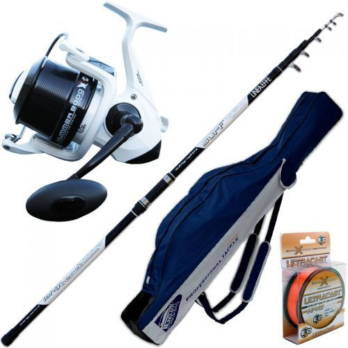 KP2840 - Canna Surf Long Cast Power 420 Mulinello Hummer 8000 Fodero Filo