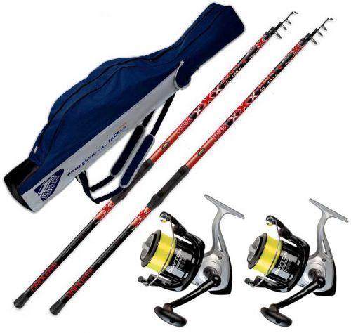 KP3274 - Kit pesca Surf 2 canne 2 mulinelli 1 fodero