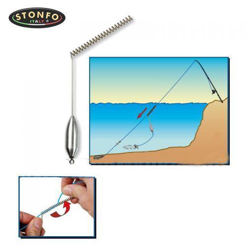 608 - Attacco Teleferica Piombato Stonfo pesca serra Rock Fishing