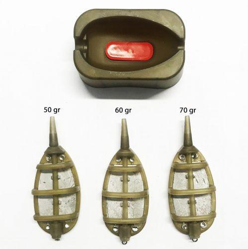 9207250 - Kit 3 pasturatori + mould stampino pesca feeder