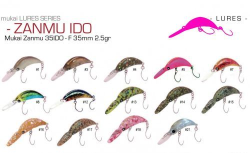 9321-35- - Mukai Crank Zanmu IIDO 35mm 2,5gr Trout Area Game