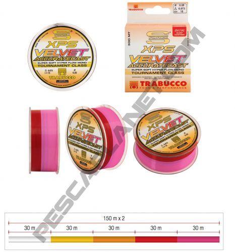 ACCURATE - Mono Filo Surfcasting Trabucco Velvet Accurate 300mt multicolor