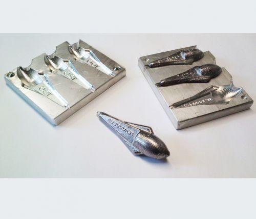 ART90 - Stampo per piombi Sportenn in alluminio 50-75-100 gr