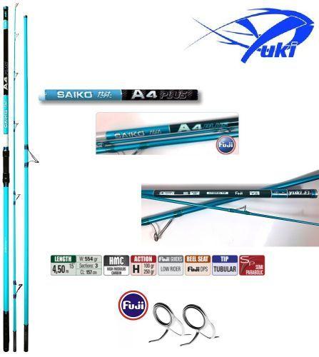CSSAP445 - Yuki Saiko A4 Plus canna surf Fuji Tubolar  tip 450 cm