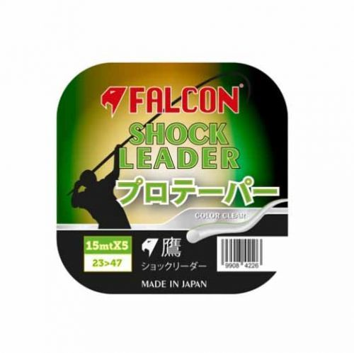 FALCON-SHOCK-W - Shock Leader Surfcasting Falcon Japan 5x15mt Clear