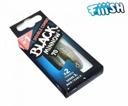 FIBM495000000 - Artificiale Black Minnow Double Combo Shore 3 Gr Noir 70 mm