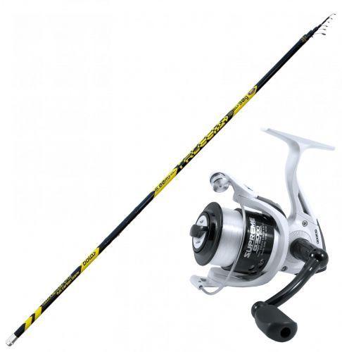 FRECCIA-SUP - Kit Bolognese Fishing Canna Freccia 5-6-7 m Reel Evo Supreme CX 3000