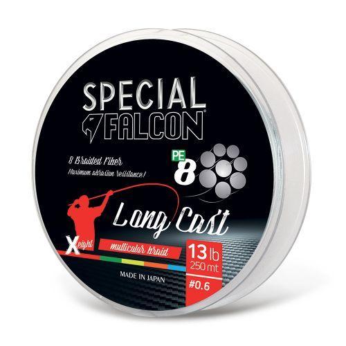 Falcon-Long - Braid 8 capi Surfcasting Falcon Long Cast 250mt multicolor