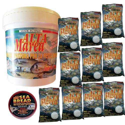 KITALTAMAREA - Kit Altamarea 10 kg pastura + secchio + innesco