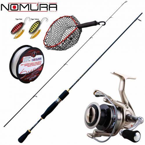 KP2202 - Kit Trout Area Nomura Canna Mulinello Spoon Treccia Guadino