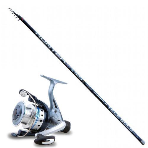 KP2520 - KP2520 caña de pescar boloñesa Hunter Bolo 4 m + Bobina de dardo 2000 RD 3 bb