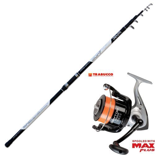 KP2589 - Kit Pesca Surf Canna Long Cast Mulinello Trabucco Dayton 8000