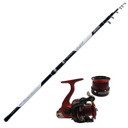 KP2592 - Kit Surf Canna Long Cast Power 200gr Mulinello Globe Fishing
