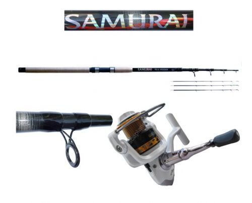 KP2675 - Kit Globe Fishing Canna Feeder 360 telescopica Samurai + Mulinello Kaya 3000