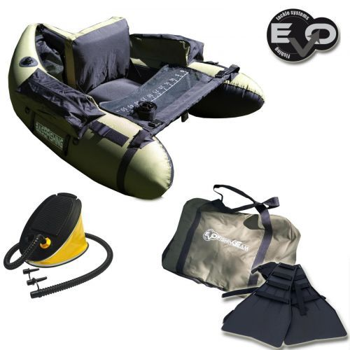 KP2836 - Belly Boat Evo Fishing Olive + Pinne