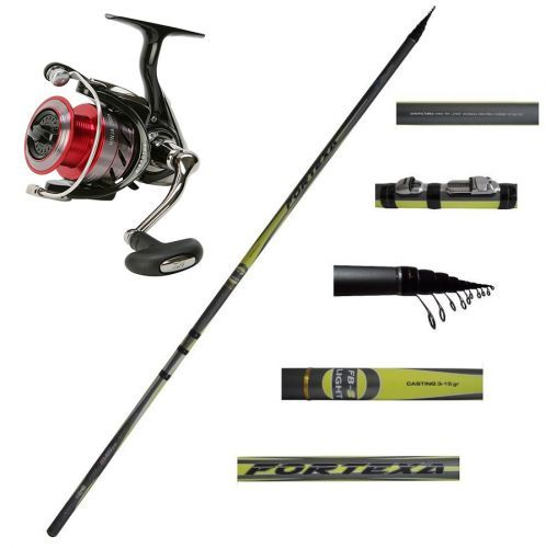 KP2986 - Kit Bolognese Canna Italica Fortexa FBS Light 7 Mt + Mulinello Daiwa