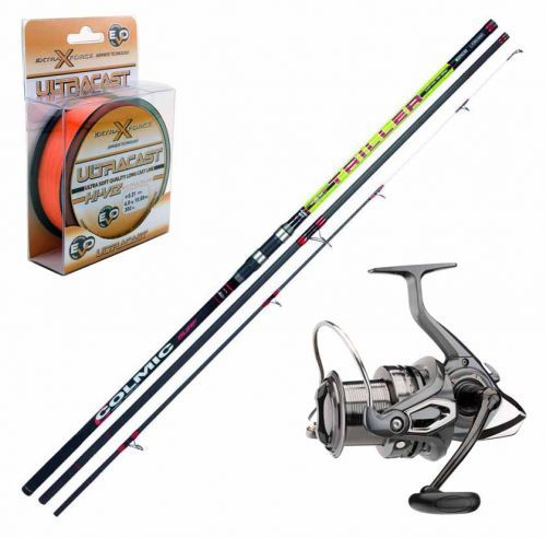 KP3195 - Kit Surfcasting Canna Colmic Triller 420 + Mulinello Emcast + Filo