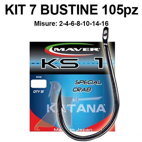 KP3390 - Kit 105 Ami Surfcasting Maver KS1 7 bustine