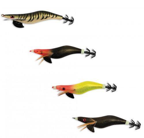KP3472 - 4 Totanare Pesca squid seppia Millerighe seta Misura 3,5