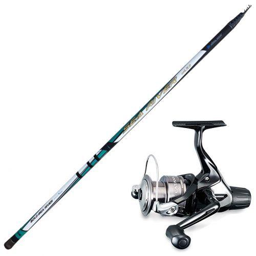 KP3477 - KP3477 Kit de pesca boloñesa Mar del río italiano Rod 10 m + Carrete de Catana