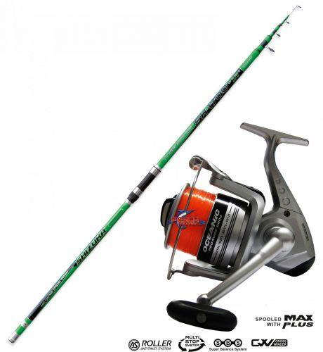 KP3547 - Canna pesca Surf Shizuka SH1700 200gr + Mulinello Oceanic 8000