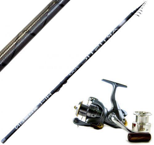 KP3645 - Canna pesca Bolognese carbonio Trex Artistic 5 mt + Mulinello 2000