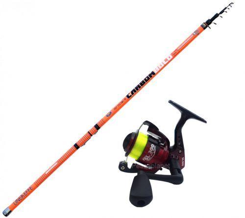 KP3675 - Canna pesca Bolognese Carbon bolo 5 mt + Mulinello Filo