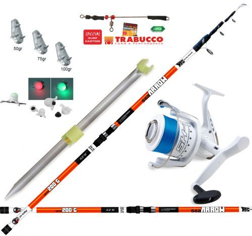 KP3872 - Kit Arrow Canna Surf 420 Mulinello Picchetto travi piombi  Filo