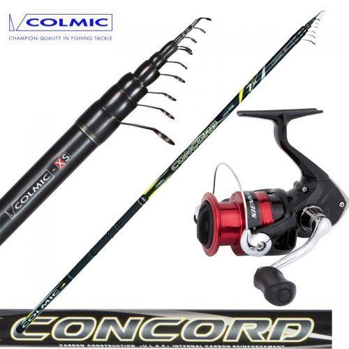 KP4078-79-80-81 - Colmic Fishing Rod Bolo Concord 4-5-6-7 Shimano Sienna 2000 Reel